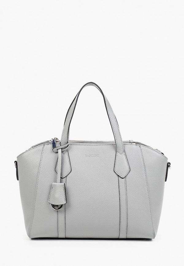 женская сумка с ручками basconi, серая