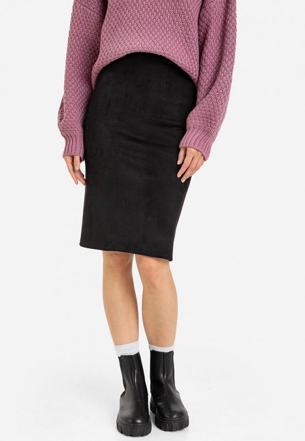 женская прямые юбка gloria jeans, черная