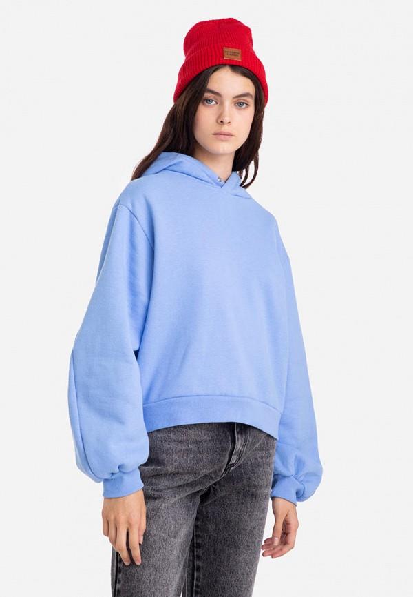женские худи gloria jeans, голубые