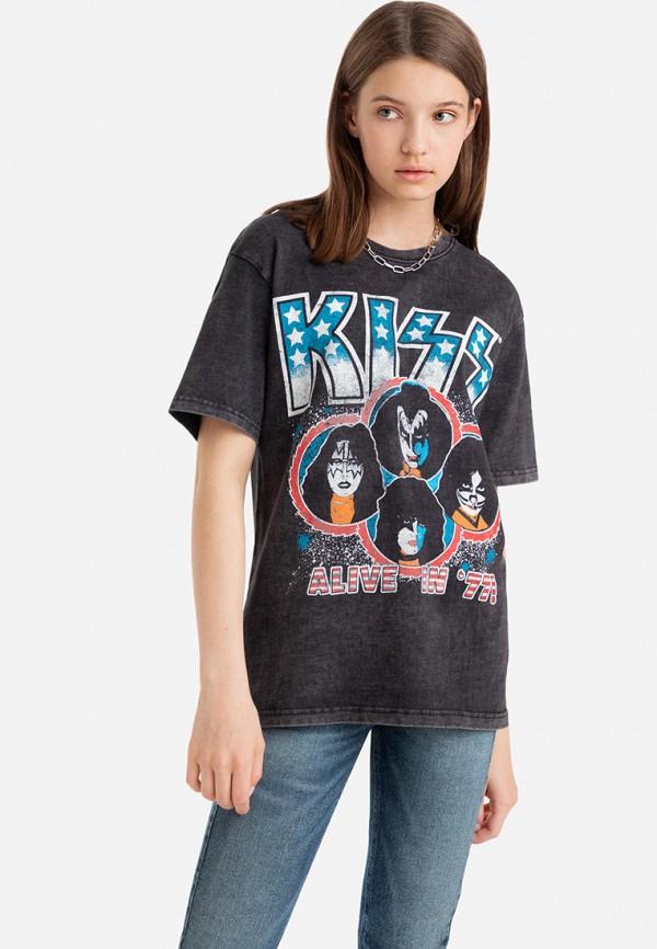 женская футболка gloria jeans, черная
