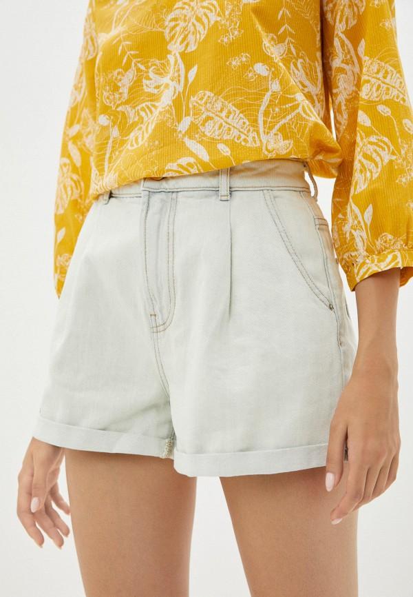 женские джинсовые шорты colin's, белые