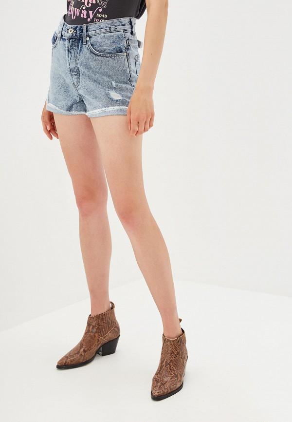 женские джинсовые шорты colin's, голубые