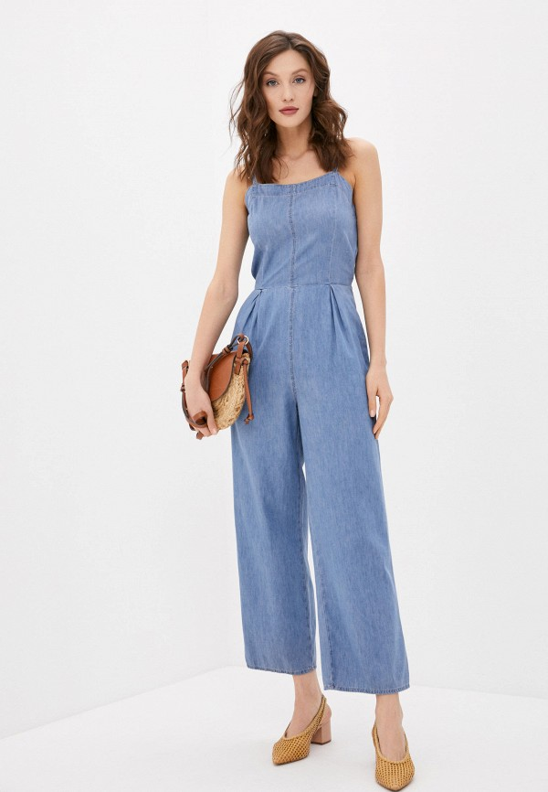 женский джинсовые комбинезон colin's, синий