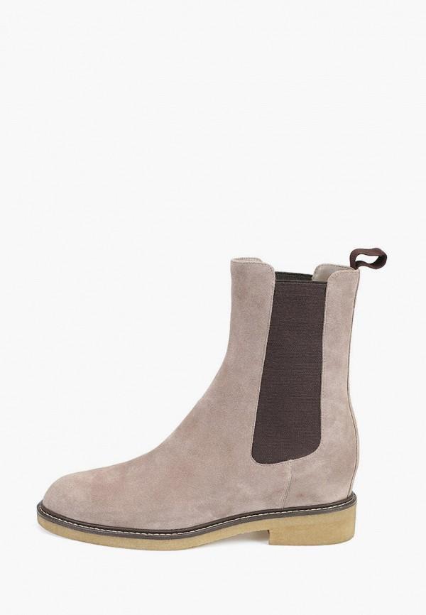 женские ботинки-челси alla pugachova, бежевые