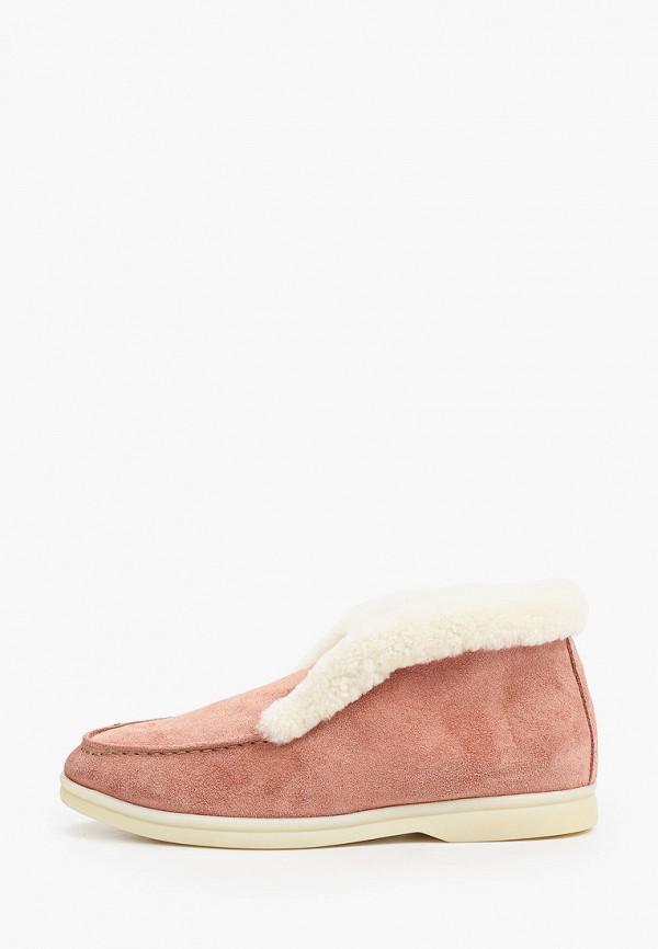 женские высокие ботинки marco bonne', розовые