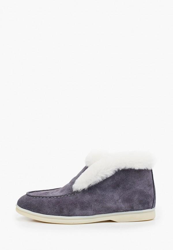 женские высокие ботинки marco bonne', серые