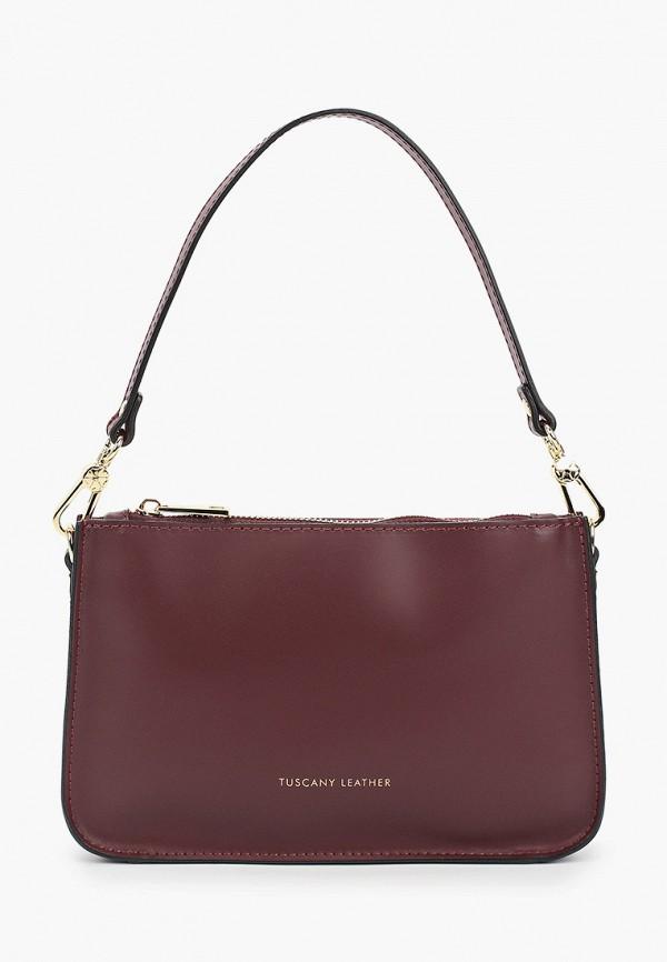 женская сумка с ручками tuscany leather, бордовая