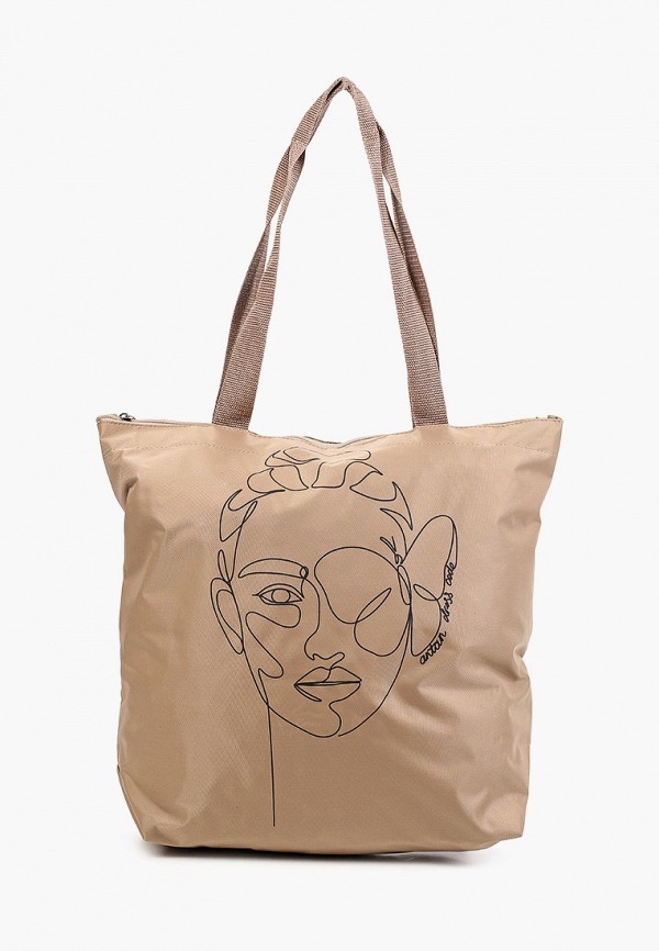 женская сумка с ручками antan, бежевая