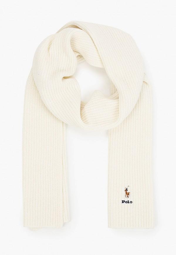 женский шарф polo ralph lauren, белый