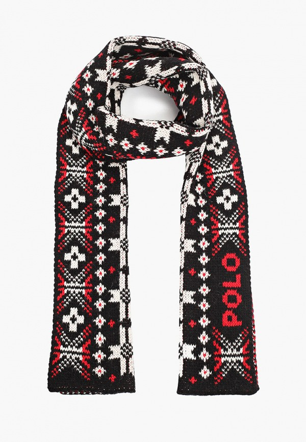 женский шарф polo ralph lauren, черный