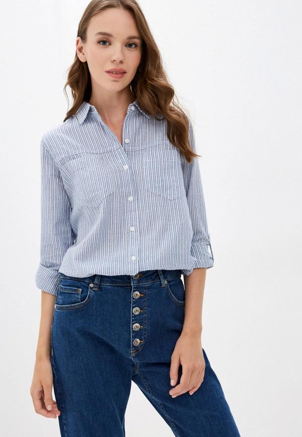 женская рубашка с длинным рукавом colin's, голубая
