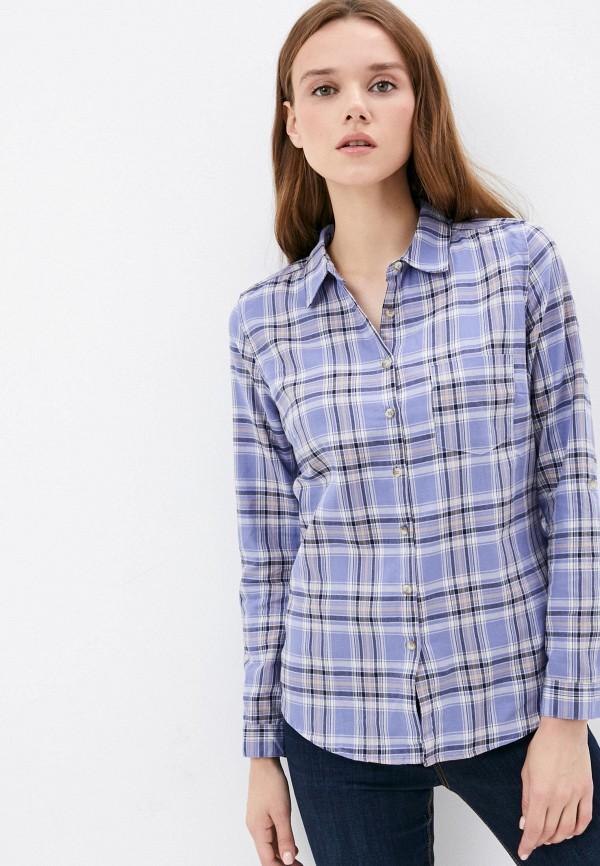 женская рубашка с длинным рукавом colin's, фиолетовая