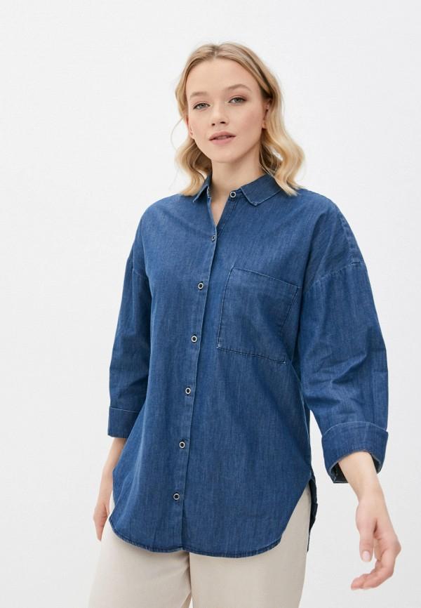 женская джинсовые рубашка colin's, синяя
