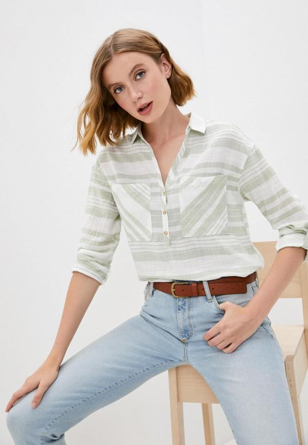 женская рубашка с длинным рукавом colin's, зеленая
