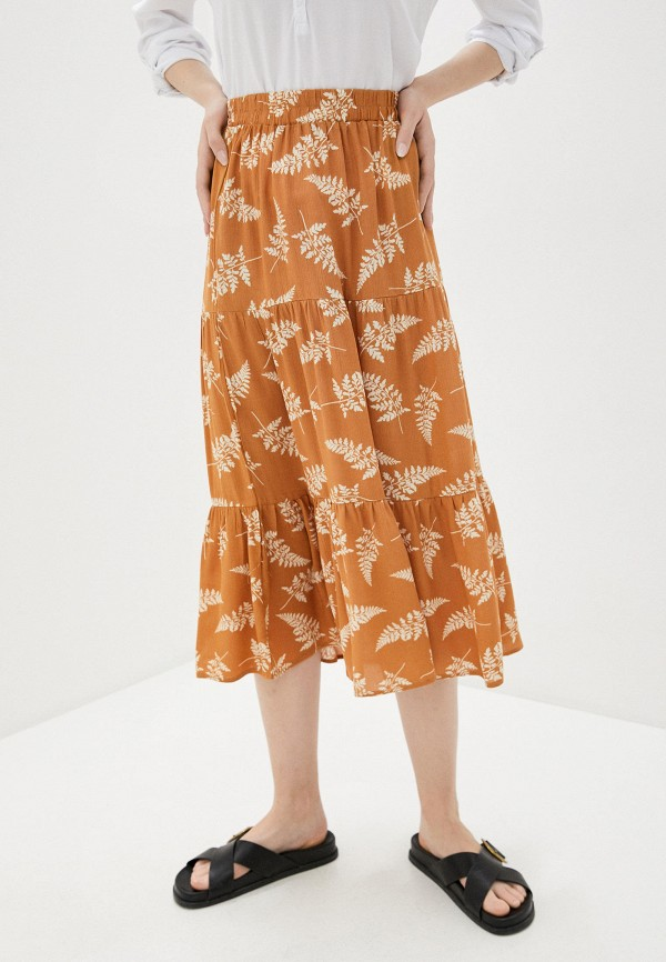 женская юбка colin's, коричневая