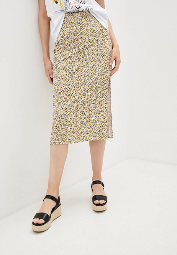 женская прямые юбка colin's, разноцветная