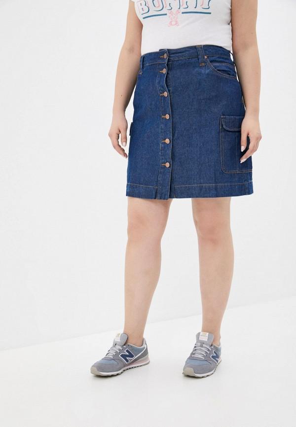 женская джинсовые юбка colin's, синяя