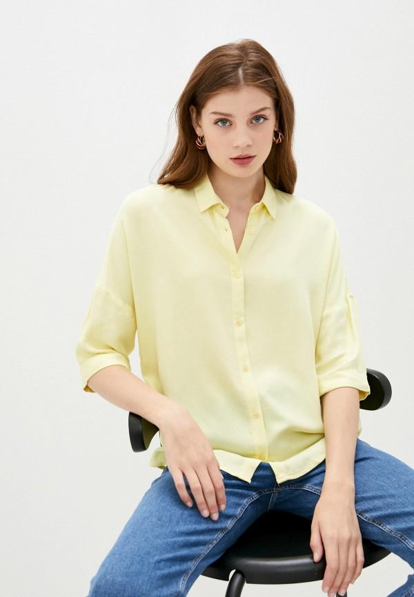 женская рубашка с длинным рукавом colin's, желтая