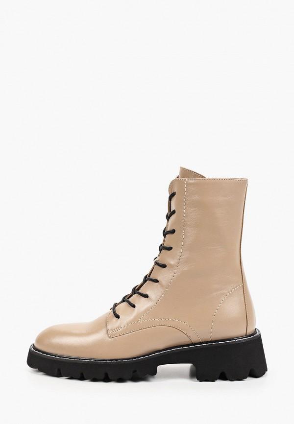 женские высокие ботинки giotto, бежевые