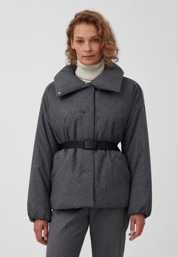 женская утепленные куртка finn flare, серая
