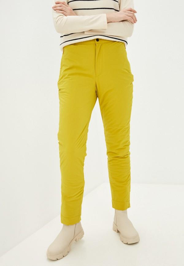 женские утепленные брюки baon, желтые