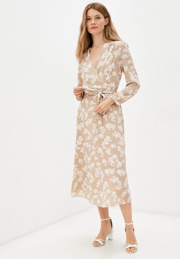 женское платье с запахом vittoria vicci, бежевое