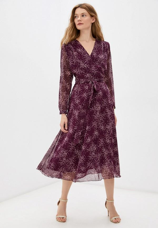 женское платье с запахом vittoria vicci, бордовое