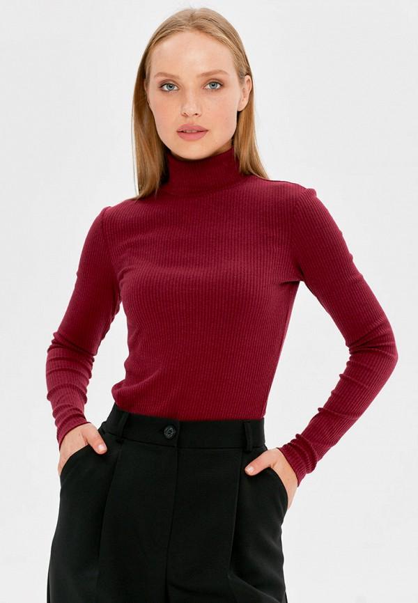 женская водолазка cardo, бордовая