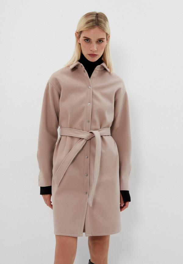 женское платье-рубашки zarina, бежевое