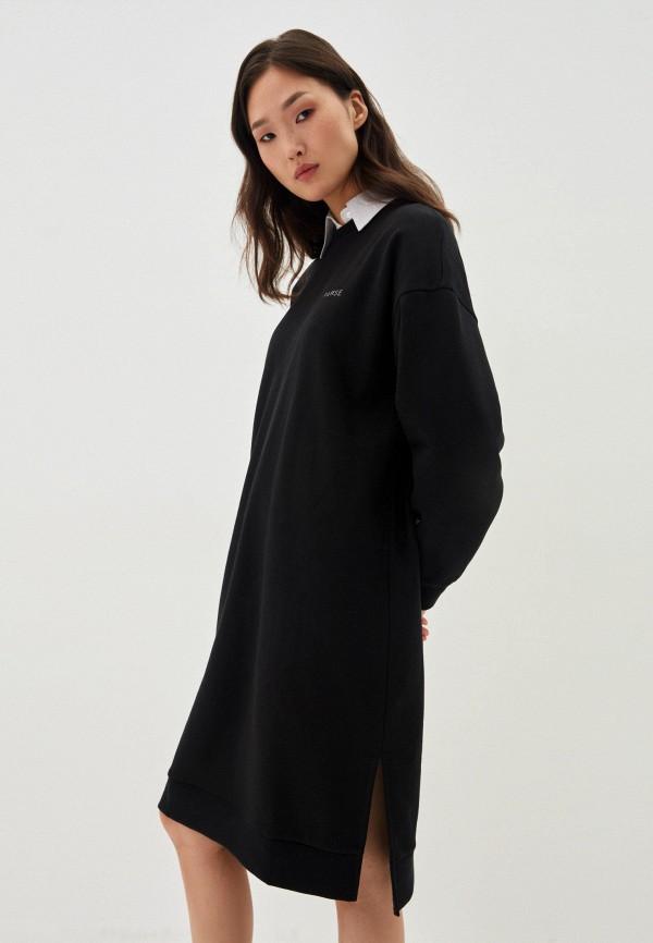 женское платье-толстовки zarina, черное
