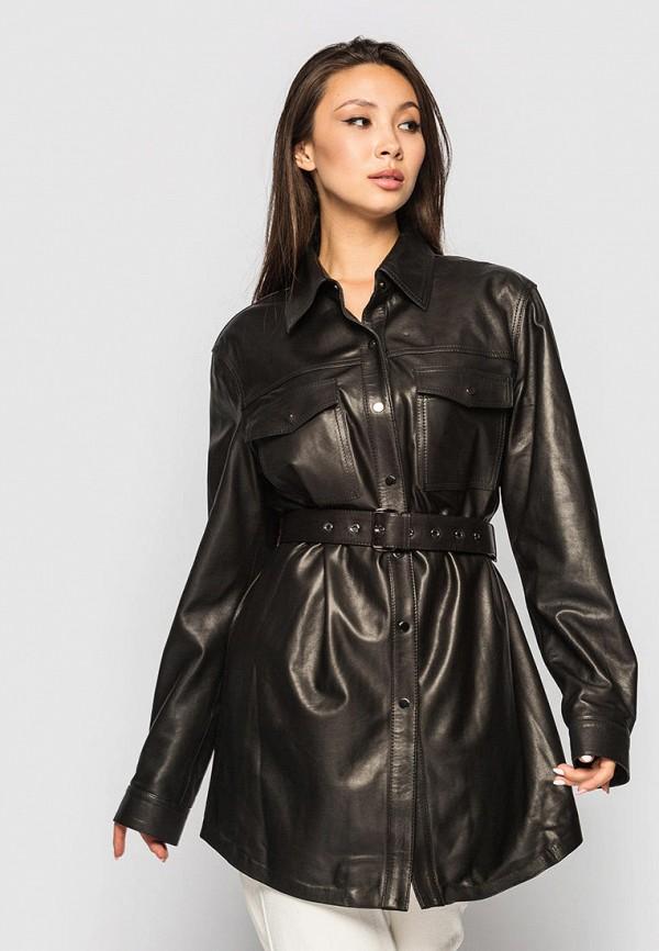 женская рубашка с длинным рукавом vk fason, черная