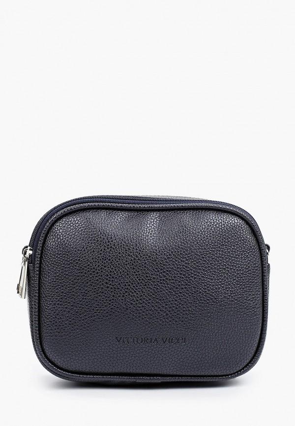 женская сумка через плечо vittoria vicci, синяя