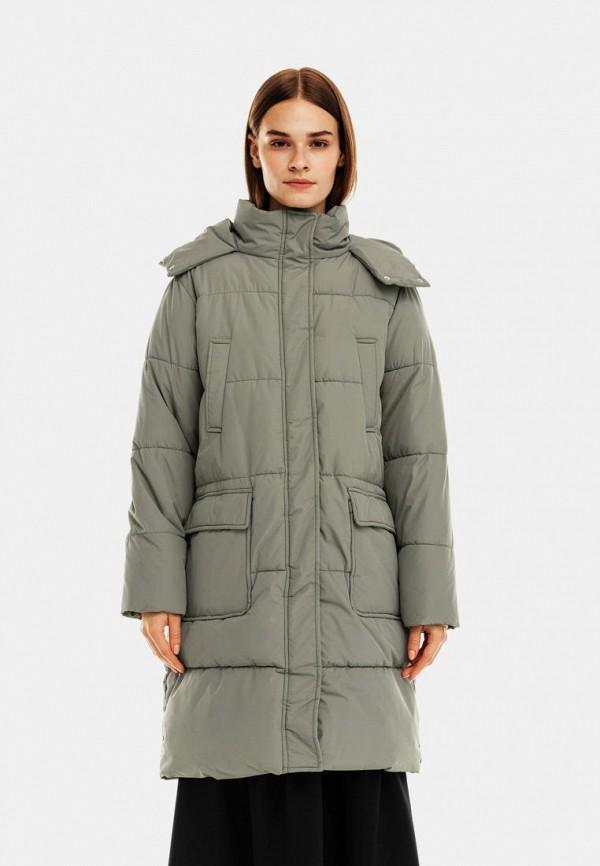 женская утепленные куртка befree, зеленая