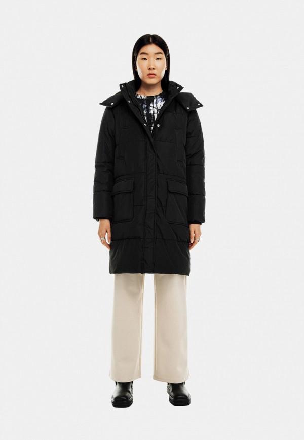 женская утепленные куртка befree, черная