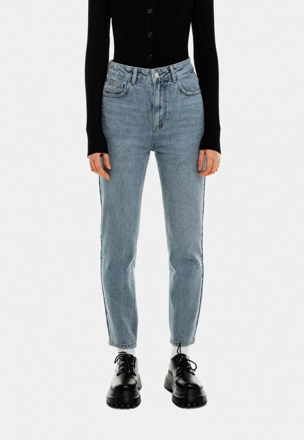 женские джинсы-мом befree, голубые