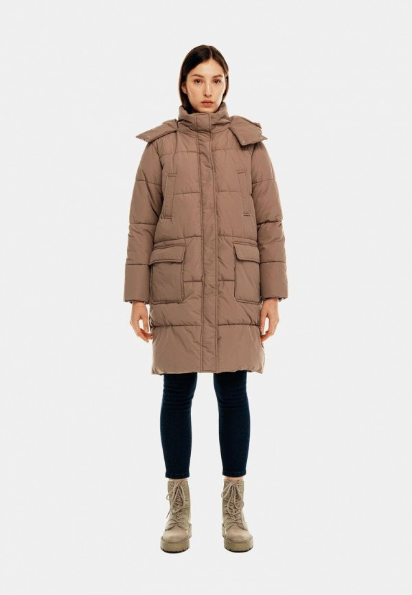 женская утепленные куртка befree, бежевая