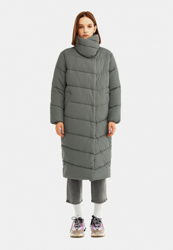 женская утепленные куртка befree, хаки