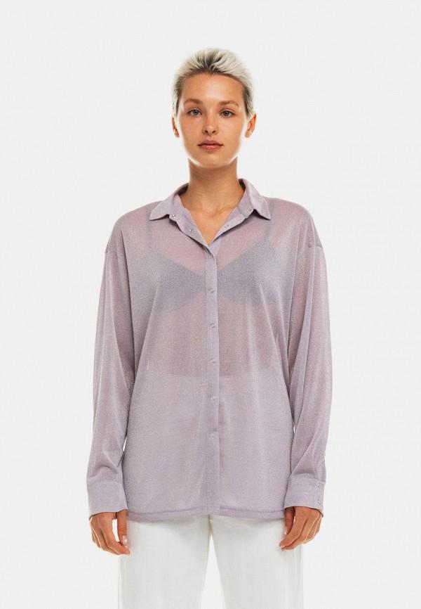 женская блузка с длинным рукавом befree, фиолетовая
