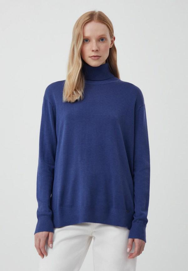женская водолазка finn flare, синяя