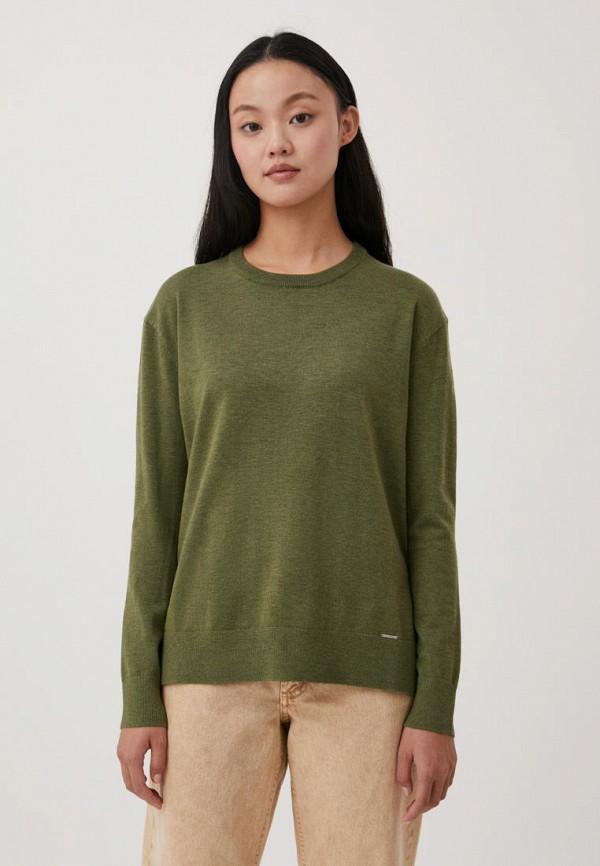 женский джемпер finn flare, зеленый