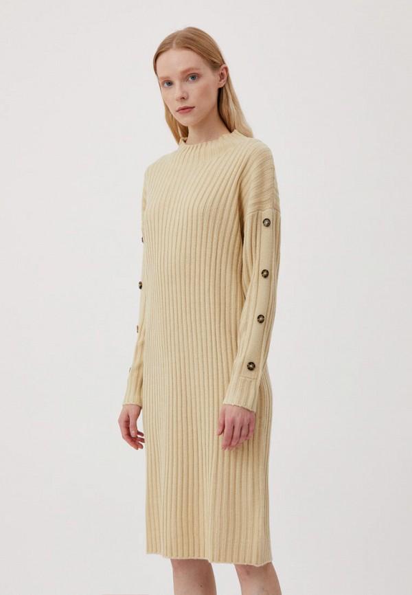 женское платье-свитеры finn flare, бежевое