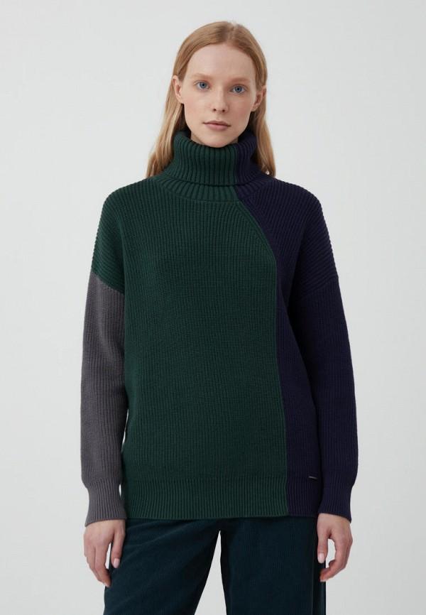 женский свитер finn flare, зеленый