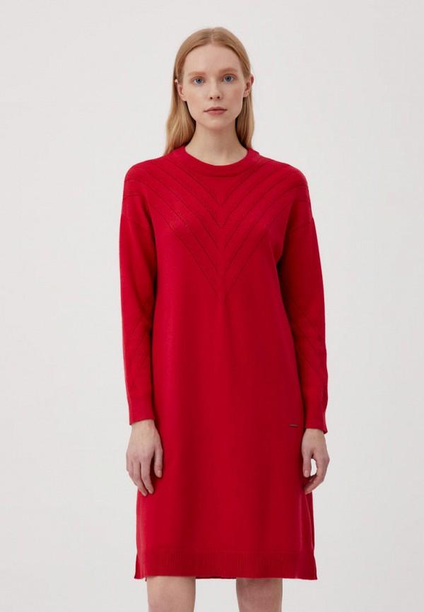 женское платье-свитеры finn flare, красное