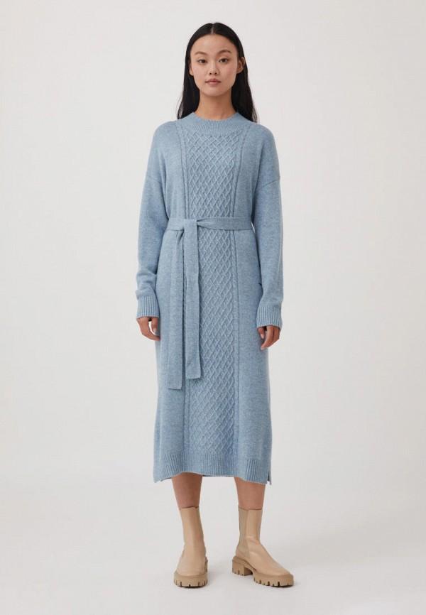 женское платье-свитеры finn flare, голубое