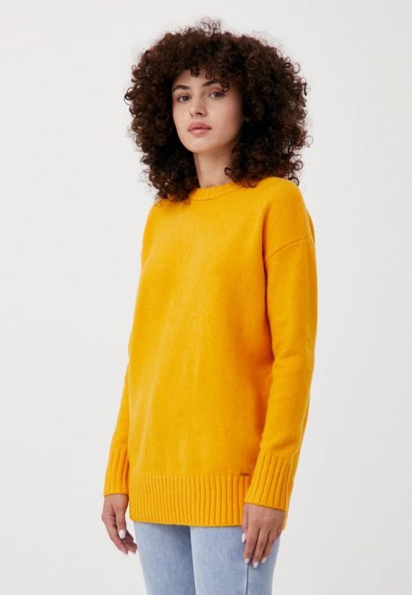 женский джемпер finn flare, желтый