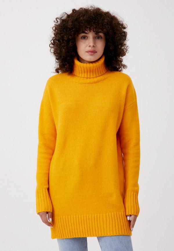женский свитер finn flare, желтый