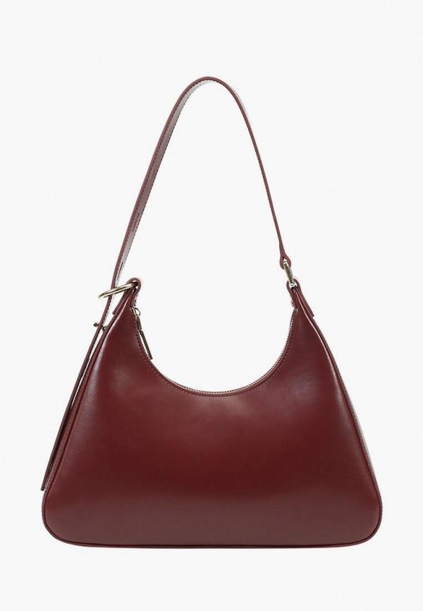 женская сумка с ручками ekonika, бордовая