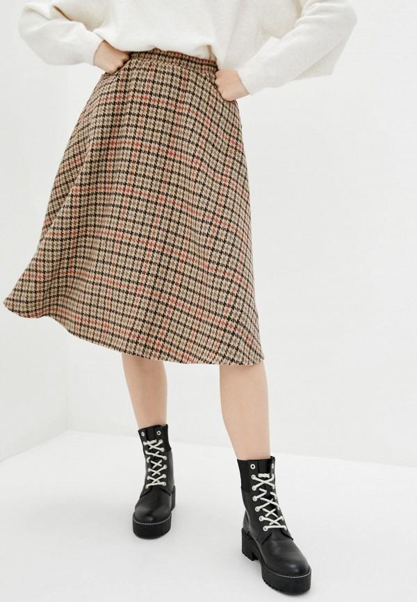 женская юбка garne, коричневая