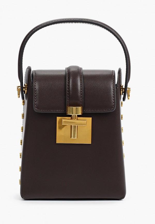 женская сумка с ручками alla pugachova, коричневая