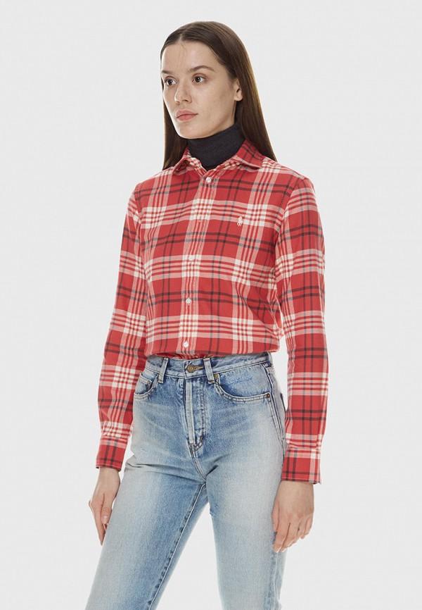 женская рубашка polo ralph lauren, красная